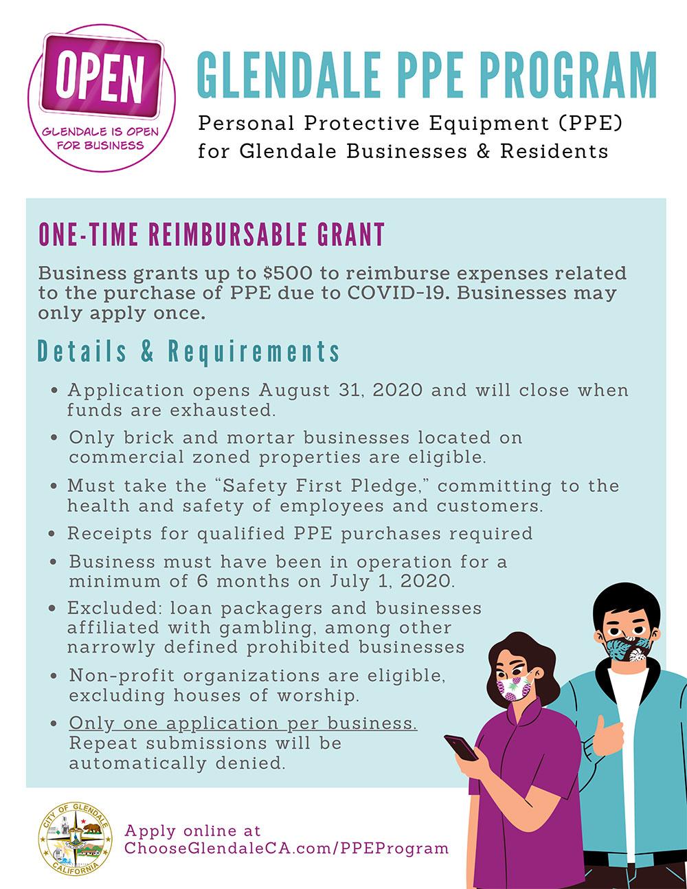 City of Glendale PPE Program Flyer