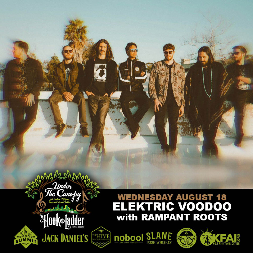 """Elektric Voodoo """"Telescope"""" Album Release Tour with Rampant Roots - Wednesday August 18 - Under The Canopy at The Hook and Ladder Theater"""
