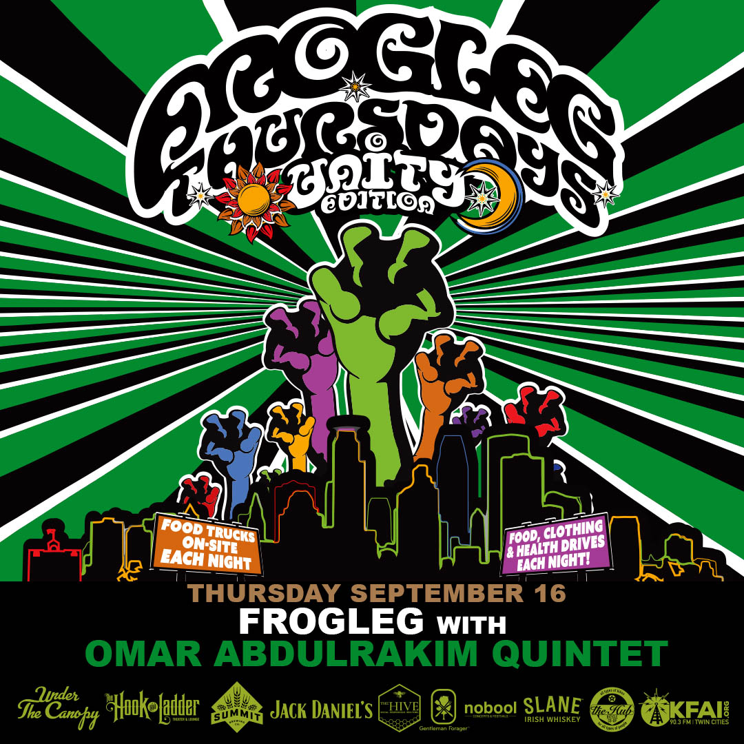 Frogleg Thursdays with Omar Abdulrakim Quintet - 9/16/21 - Under The Canopy at The Hook and Ladder Theater