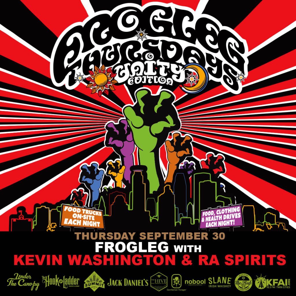 Frogleg Thursdays with Kevin Washington & Ra Spirits - 9/30/21 - Under The Canopy at The Hook and Ladder Theater