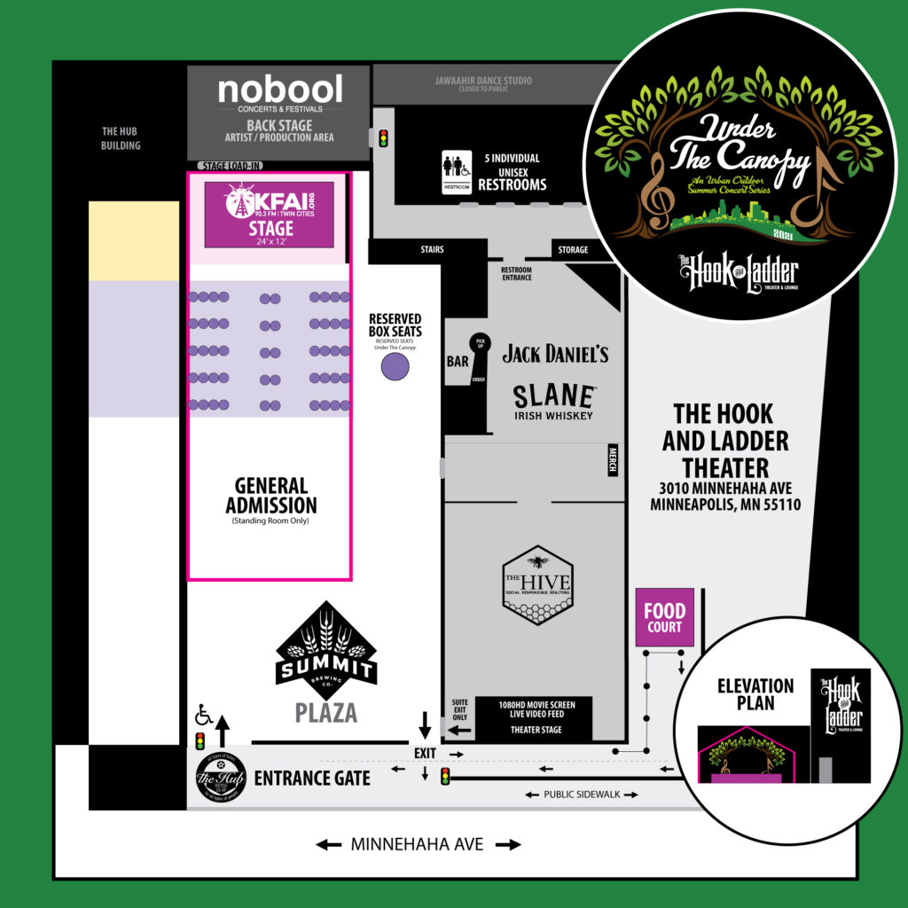 Under The Canopy - Reserved Seats + General Admission Hybrid Layout