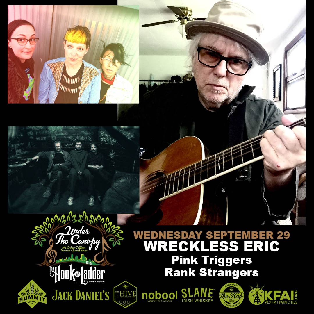 Wreckless Eric with guests Pink Triggers, Rank Strangers - Wednesday September 29 - The Hook and Ladder Theater