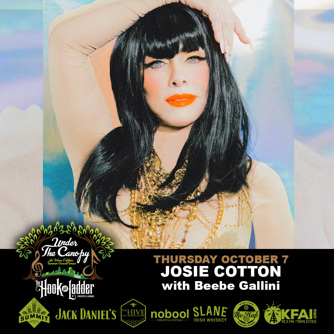 Josie Cotton withBeebe Gallini on Thursday,October 7 - Under The Canopy at The Hook and Ladder Theater