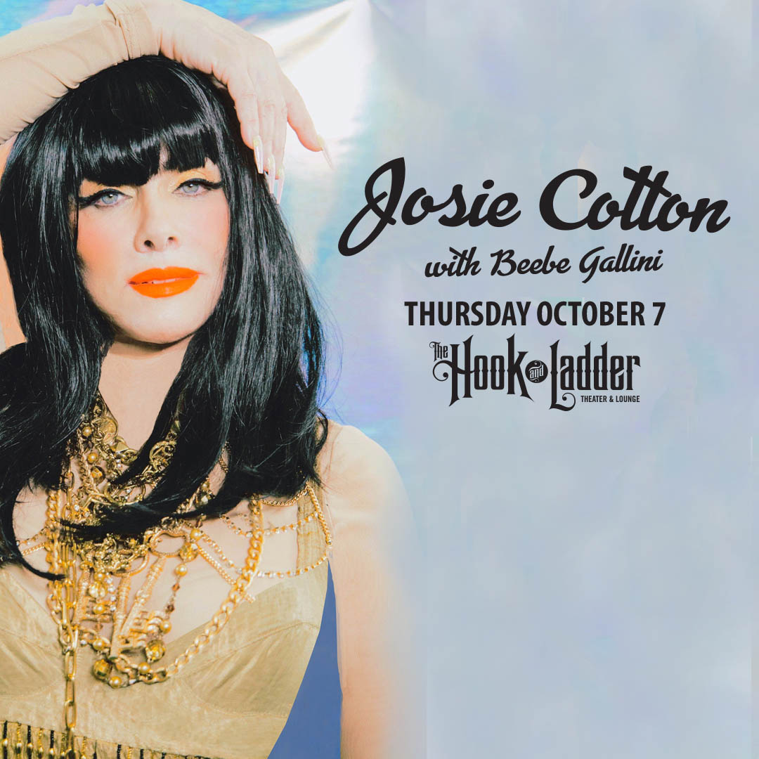 Josie Cotton withBeebe Gallini on Thursday,October 7 at The Hook and Ladder Theater