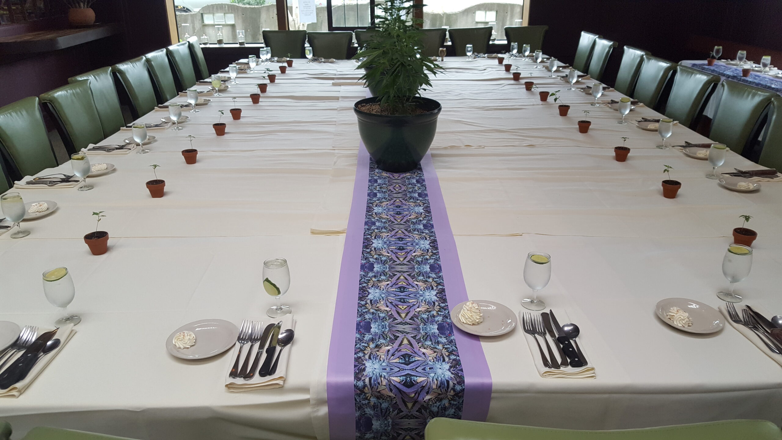 table runner Cannabis style Cannaflage designs