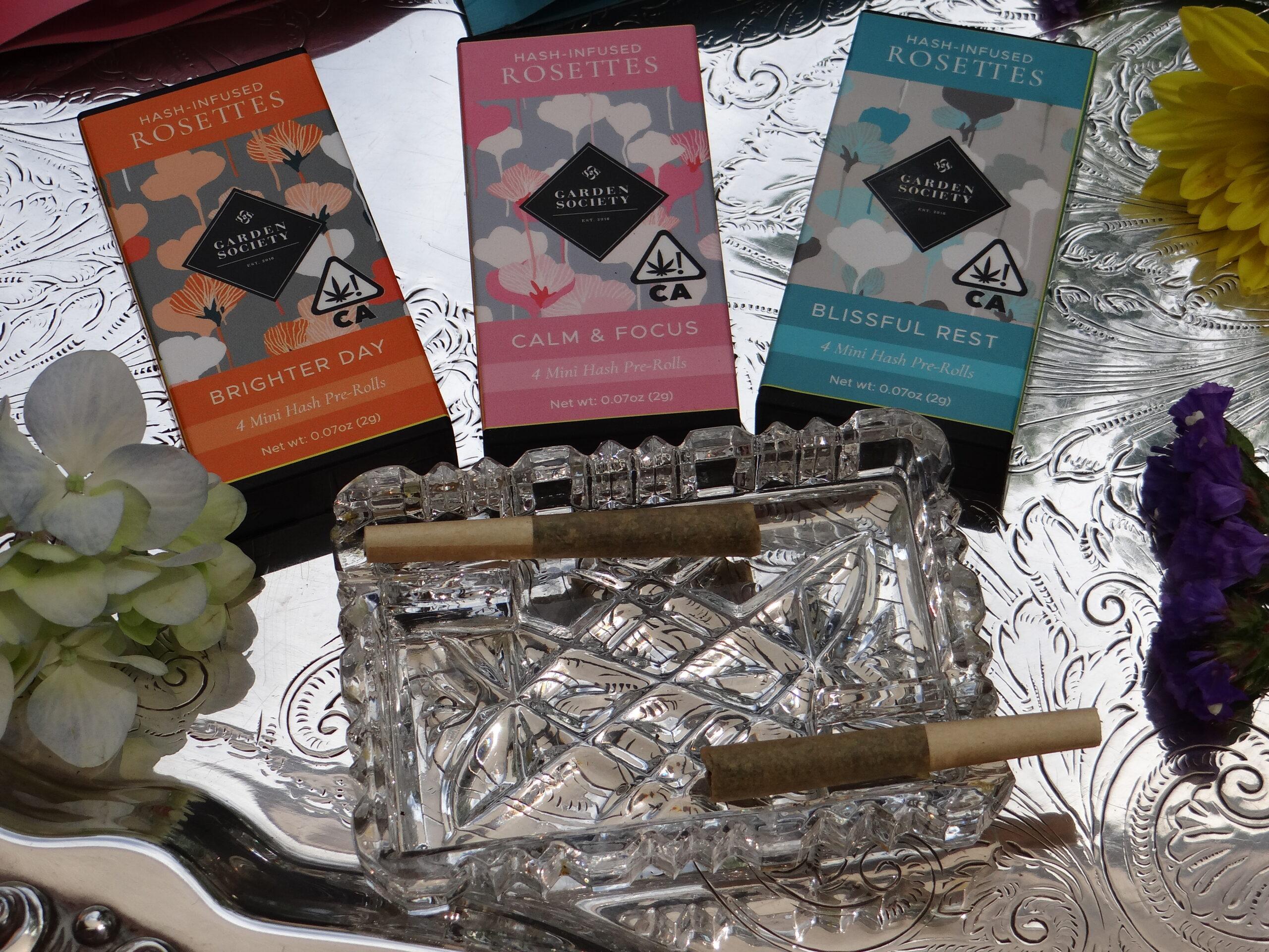 Garden Society Cannabis hash prerolls rosettes