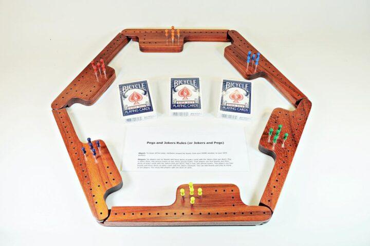 Pegs & Jokers Game Set - Padauk