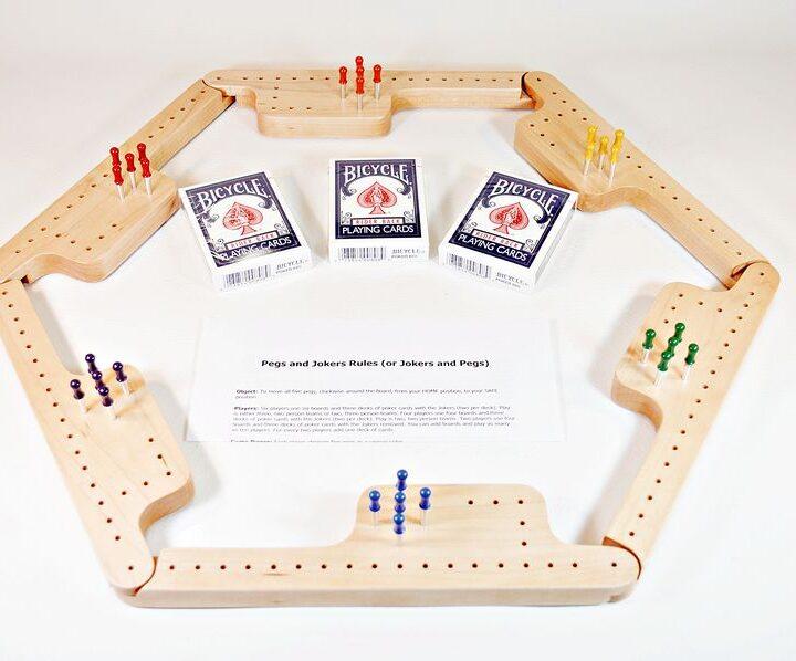 Pegs & Jokers Game Set - Hard Maple