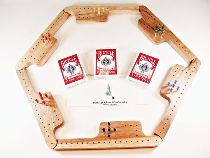 Pegs & Jokers Game Set - Hickory