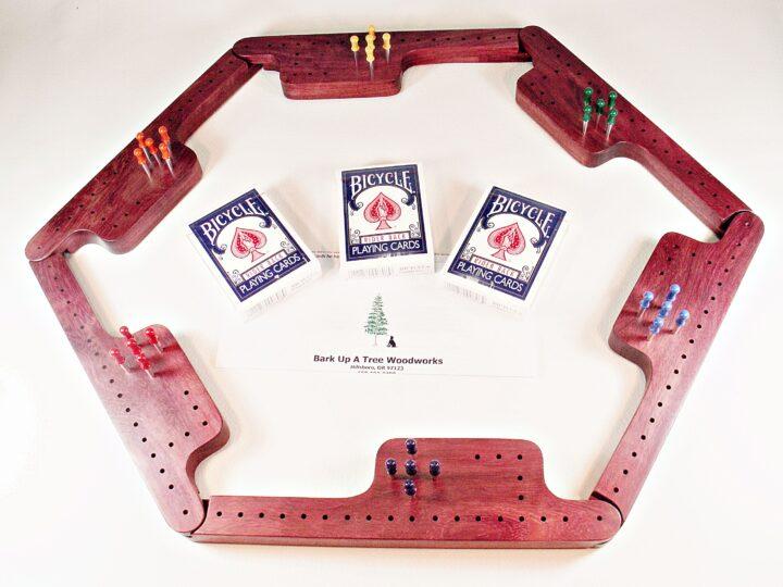 Pegs & Jokers Game Set - Purpleheart
