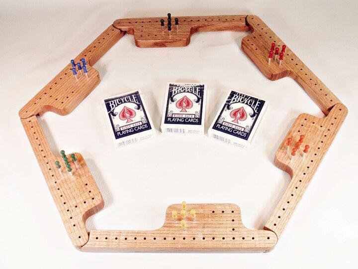 Pegs & Jokers Game Set - Quarter-Sawn Red Oak