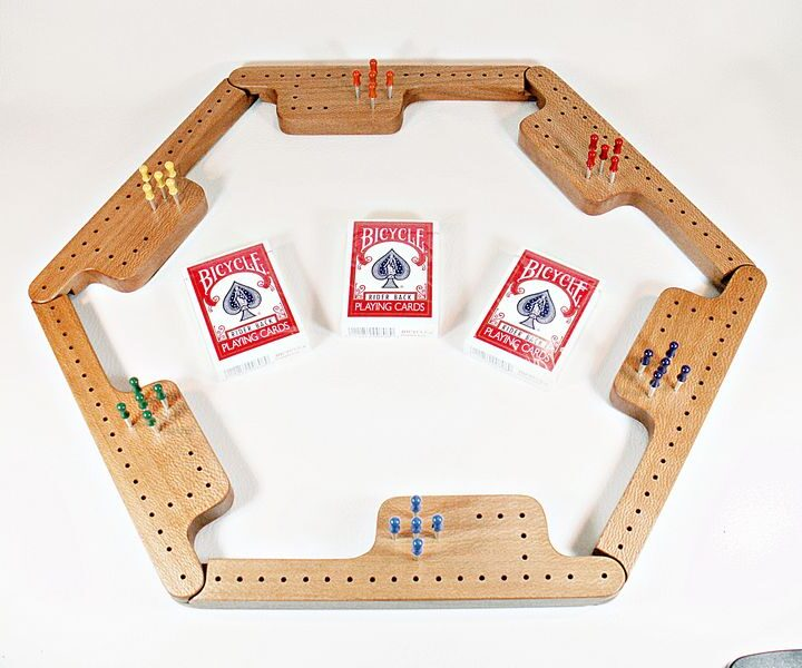 Pegs & Jokers Game Set - Quarter-Sawn Sycamore