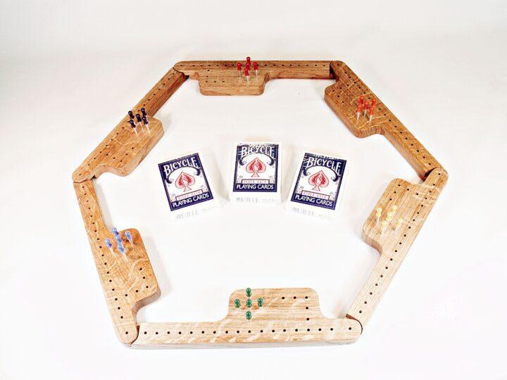 Pegs & Jokers Game Set - Quarter-Sawn White Oak