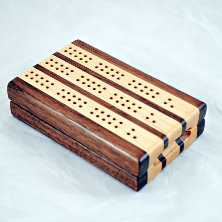 3 Track Compact Travel Cribbage Boards
