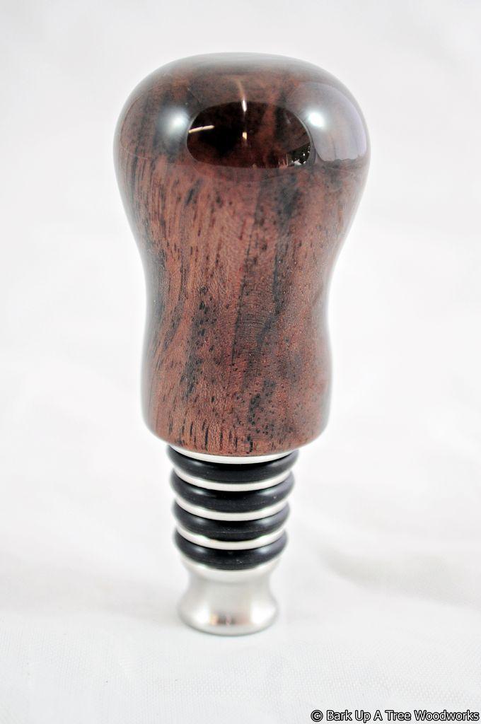 BSW - Bottle Stopper - Black Walnut - Standing