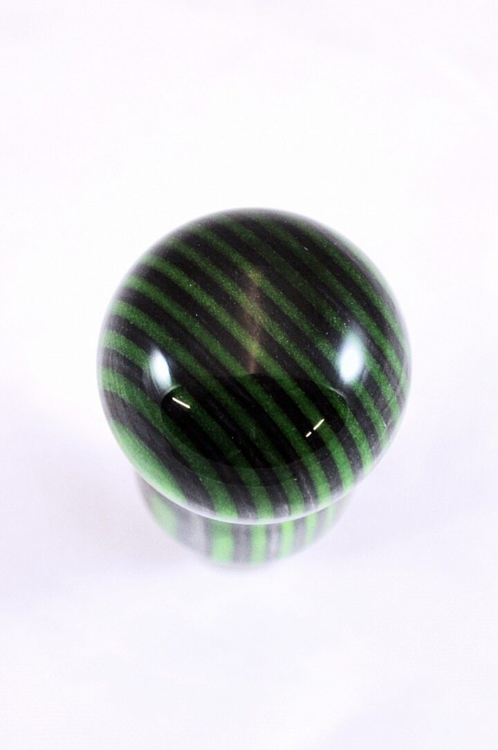 Bottle Stopper - SpectraPly Green Hornet with Stainless Steel Top