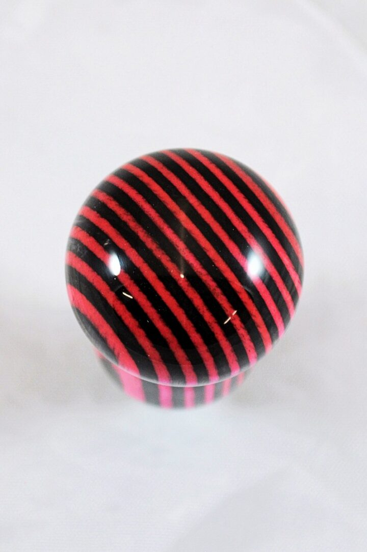 Bottle Stopper - SpectraPly Pink Lady with Stainless Steel Top