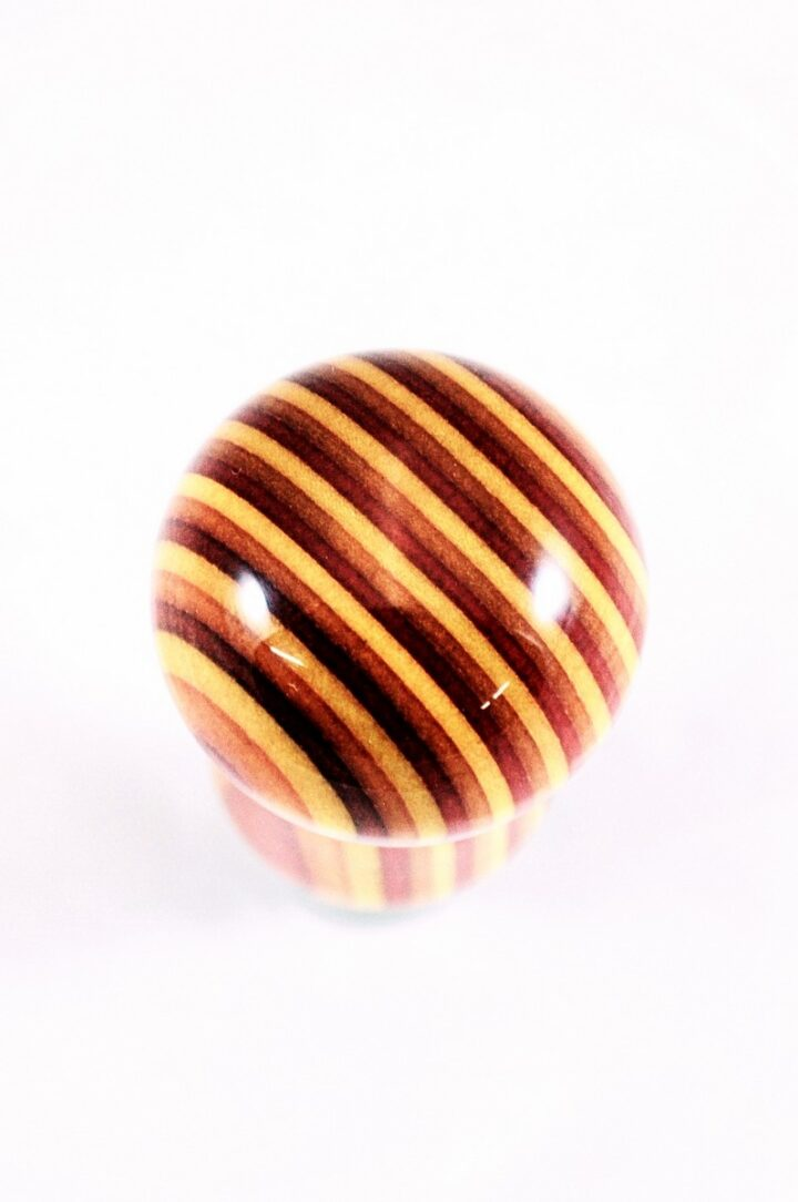 Bottle Stopper - SpectraPly Tequila Sunrise with Stainless Steel Top