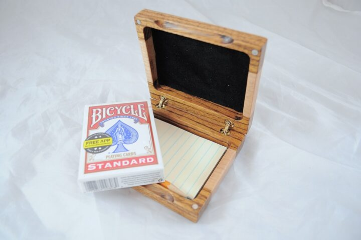 Playing Card Case #53 - Zebrawood & Curly Maple Cards