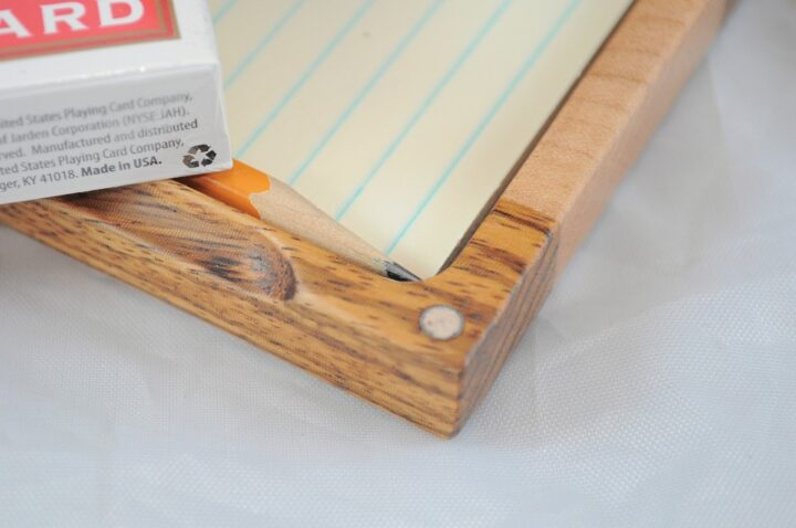 Playing Card Case #53 - Zebrawood & Curly Maple Magnet