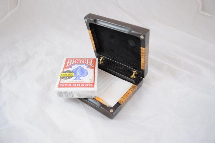 Playing Card Case #57 - Wenge & Zebrawood Cards