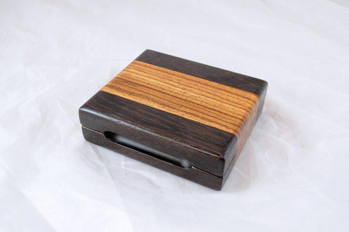 Playing Card Case #57 - Wenge & Zebrawood