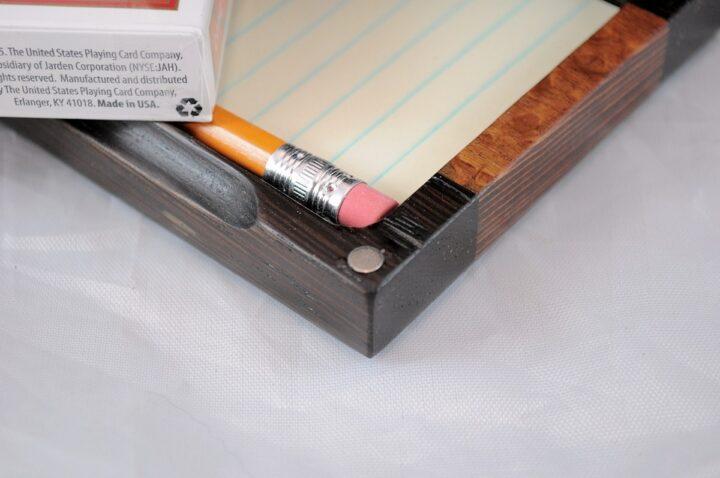 Playing Card Case #62 - Wenge & Leopardwood Magnets