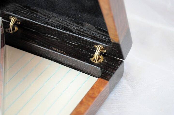 Playing Card Case #62 - Wenge & Leopardwood Hinges