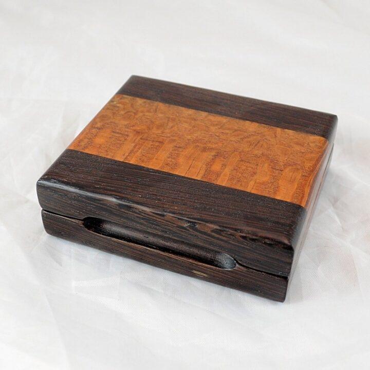 Playing Card Case #62 - Wenge & Leopardwood