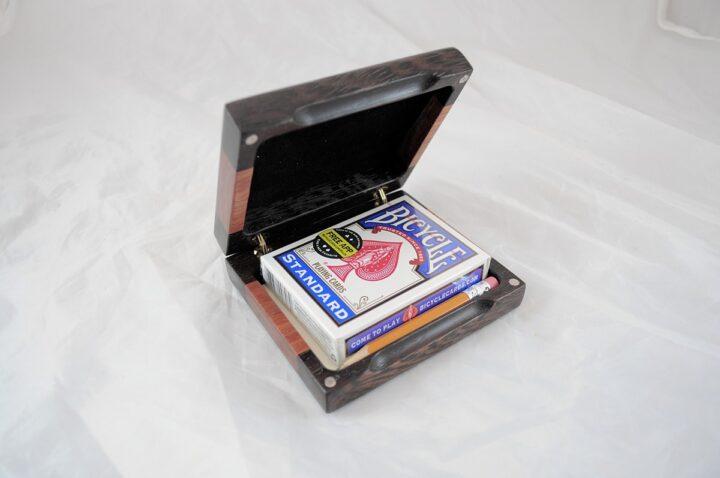 Playing Card Case #67 - Wenge & Monkeywood Open