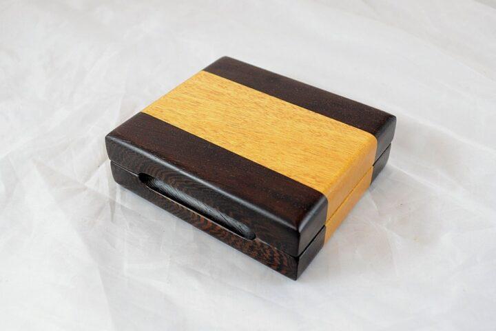 Playing Card Case #68 - Wenge & Yellowheart
