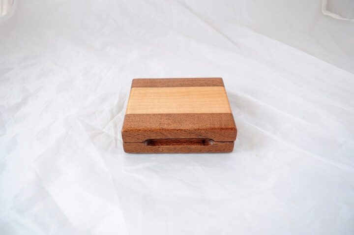 Playing Card Case #71 - Mesquite & Curly Maple Closed