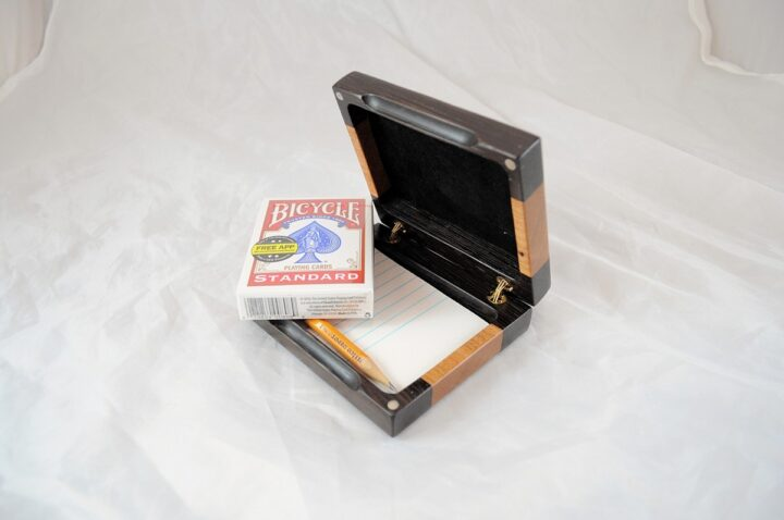 Playing Card Case #72 - Wenge & Black Cherry Cards