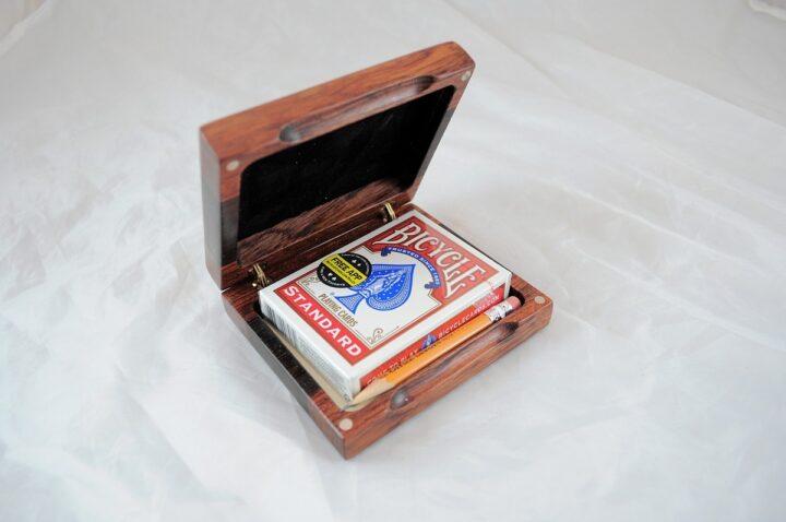 Playing Card Case #75 - Bubinga & Wenge Open