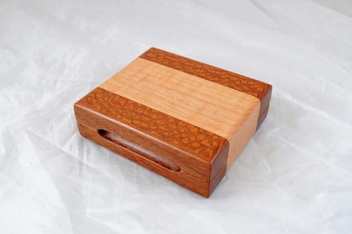 Playing Card Case #84 - Leopardwood & Curly Maple