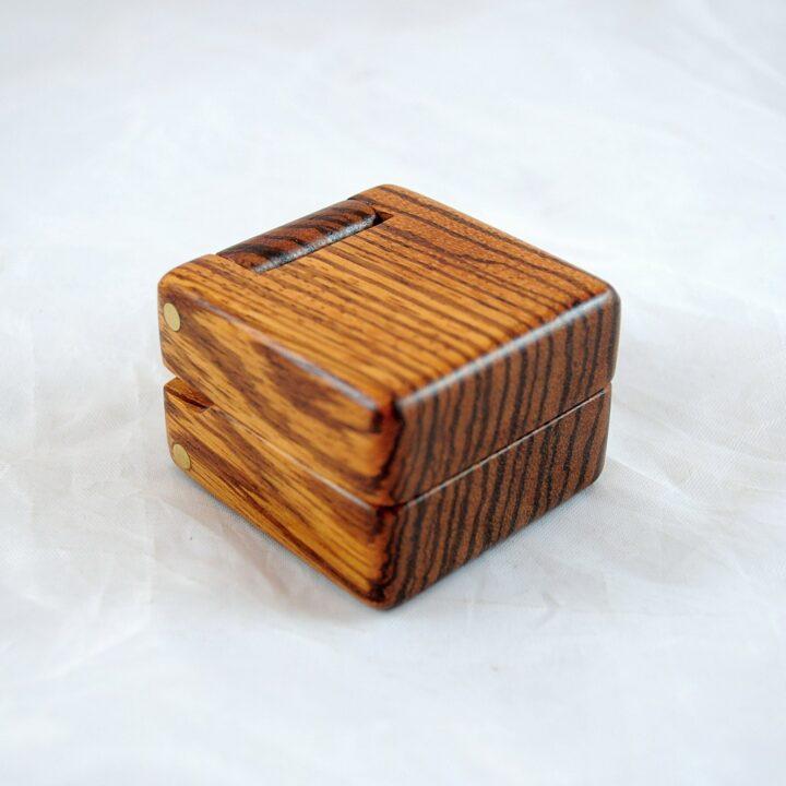 Ring Box - Zebrawood