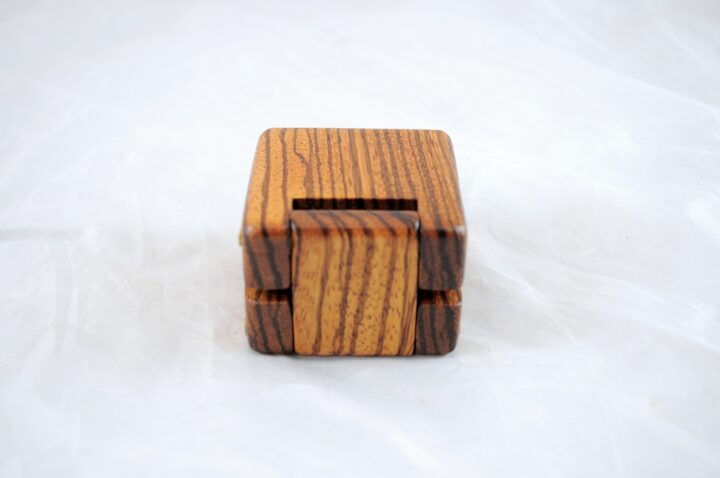 Ring Box - Zebrawood - Back