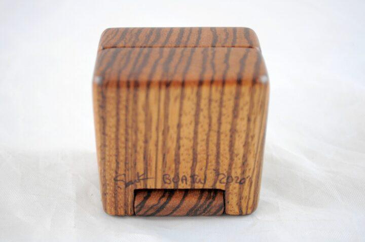 Ring Box - Zebrawood - Bottom