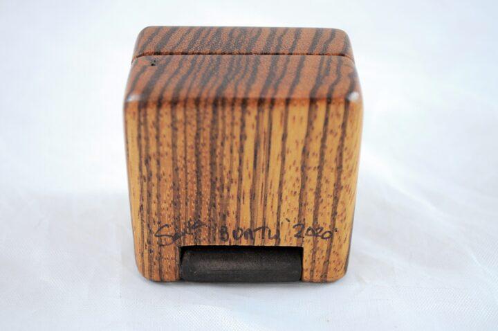 Ring Box Bottom - Zebrawood & Claro Walnut