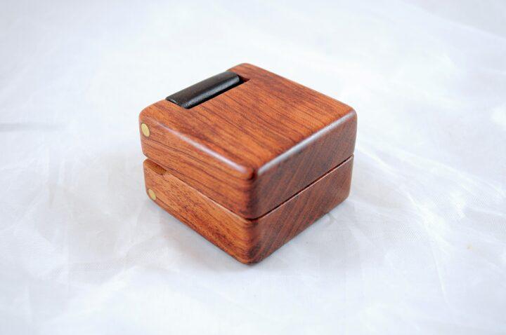 Ring Box - Bubinga & Peruvian Walnut