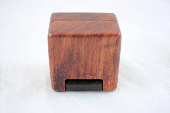 Ring Box - Bubinga & Peruvian Walnut - Bottom
