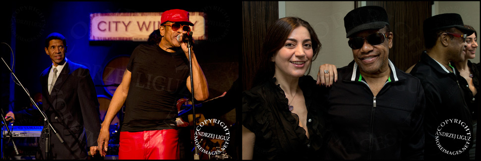 Bobby Womack in NYC with Art on stage and Anaida in his hotel room