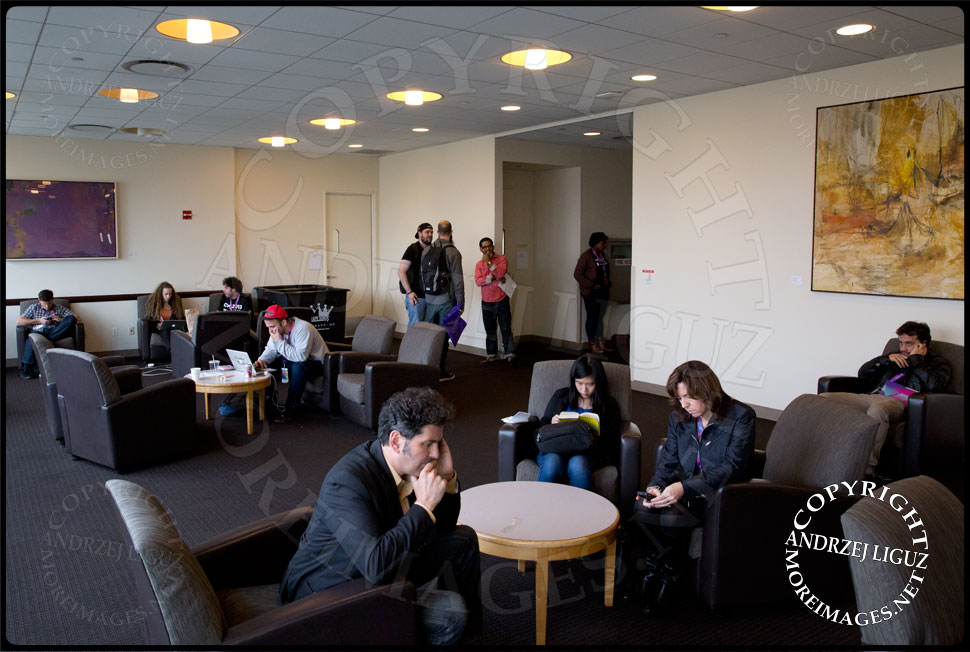 CMJ panel attendees in the lounge at the Kimmel Center © Andrzej Liguz/moreimages.net. Not to be used without permission