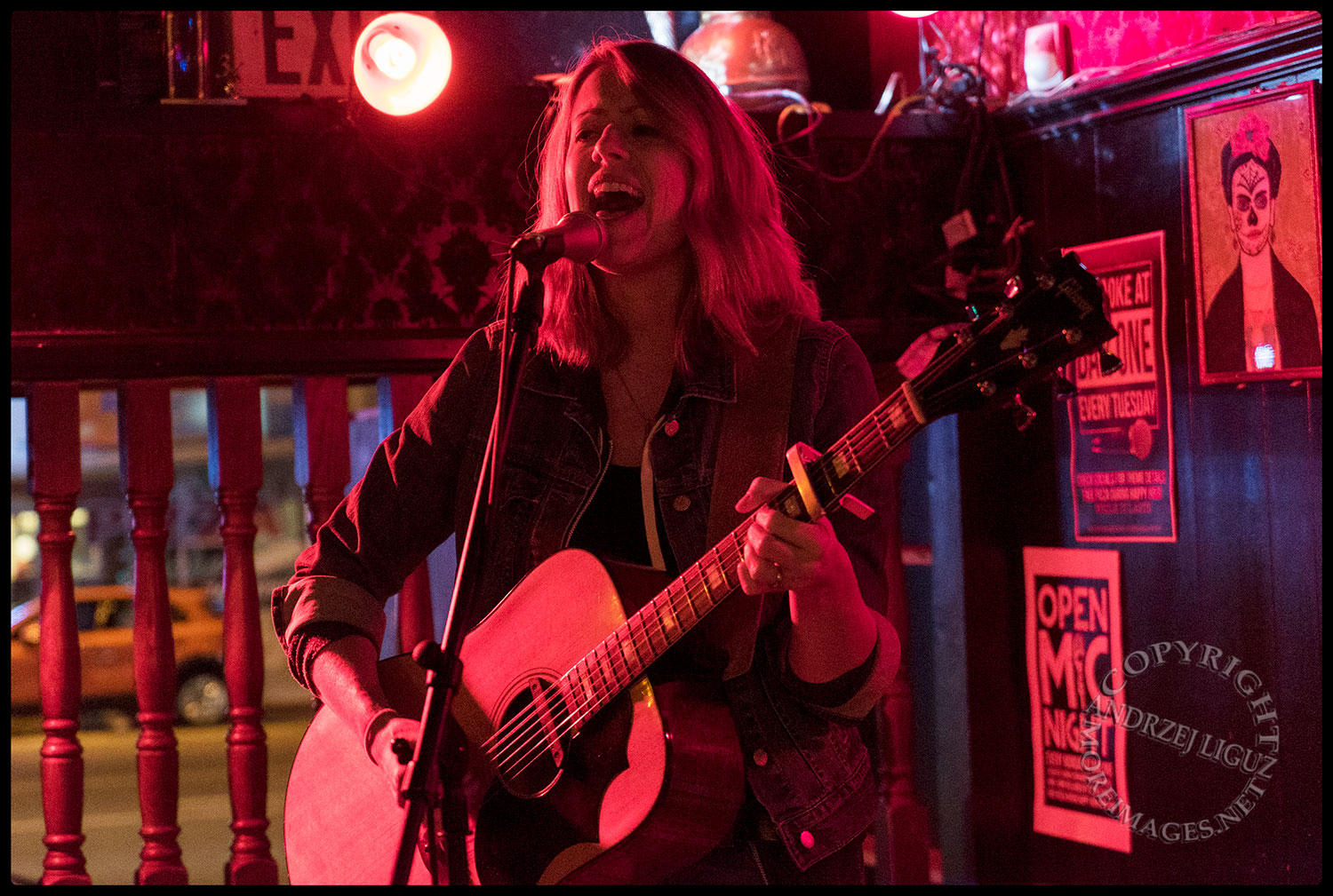 Emily Zuzik performing at The Ugly Truth Songwriter Night