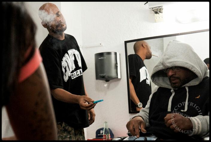 Smoke Break, Barbershop, Hollywood, CA