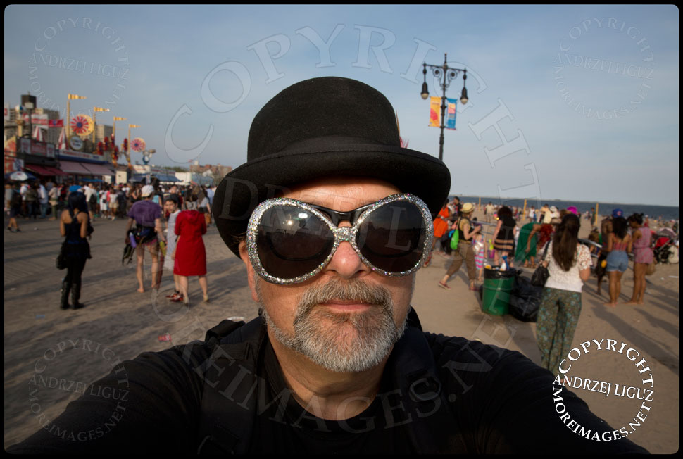Self Portrait at Coney Island Mermaid Parade 2013 © Andrzej Liguz/moreimages.net. Not to be used without permission