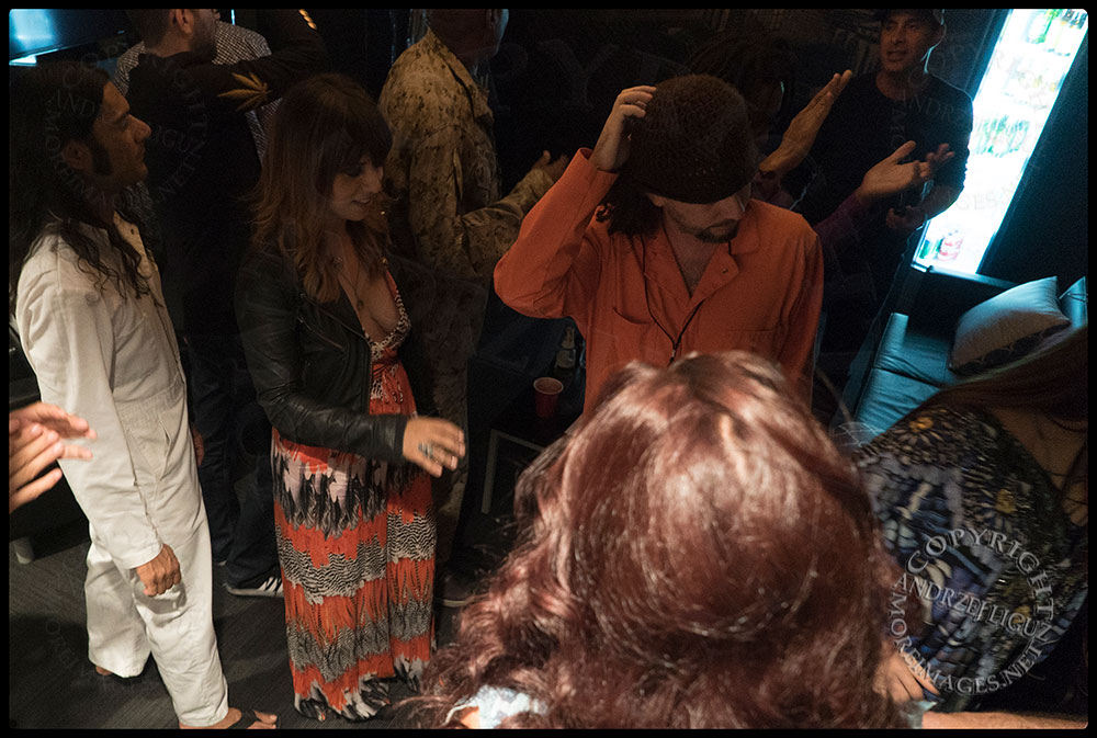 Members of Thievery Corporation just after their pre-show ritual of 'The Clap'