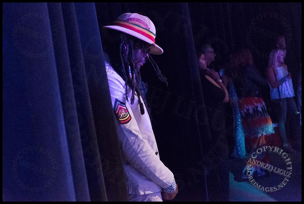 Rootz waiting to go onstage at the Santa Barbara Bowl