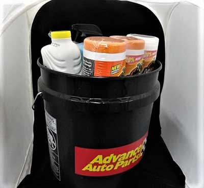 Car Care Bucket: Everything you need for cleaning the outside and outside of your vehicle.