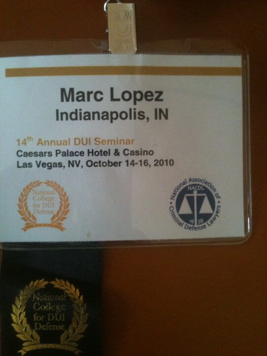 National DUI Seminar Attended by Only Two Indianapolis Area Attorneys